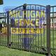 residential aluminium fence